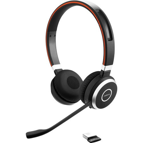 Jabra Evolve 75 USB Headset, Black (Duo)