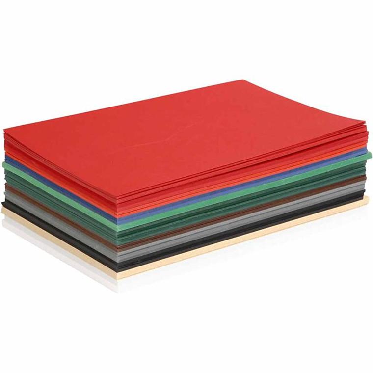 Julekarton A5 15 x 21 cm 180 gram assorteret farver | 300 ark