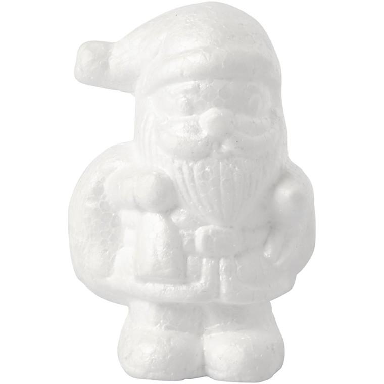 Julemand, H: 11 cm, hvid, styropor, 1stk.