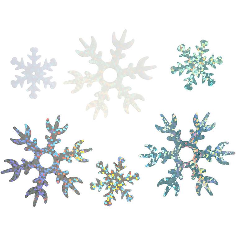 Julepailletmix, dia. 25+45 mm, lys blå, hvid, sølv, iskrystaller, 30g