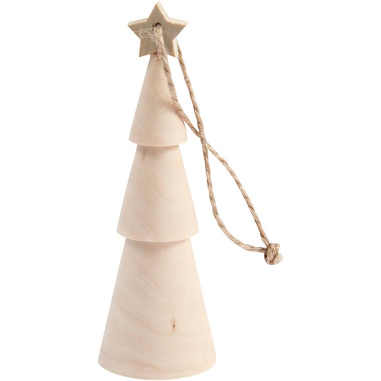 Juletræ, H: 9 cm, birk, 1stk.