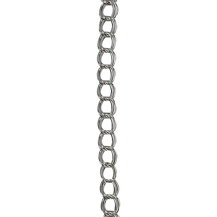 Kæde, B: 10 mm, forsølvet, FS, 1m