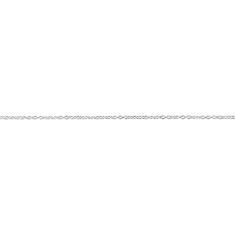 Kæde, 2 mm, forsølvet, FS, 20 m