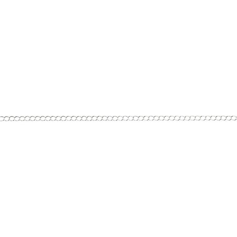 Kæde, 3 mm, forsølvet, FS, 20 m