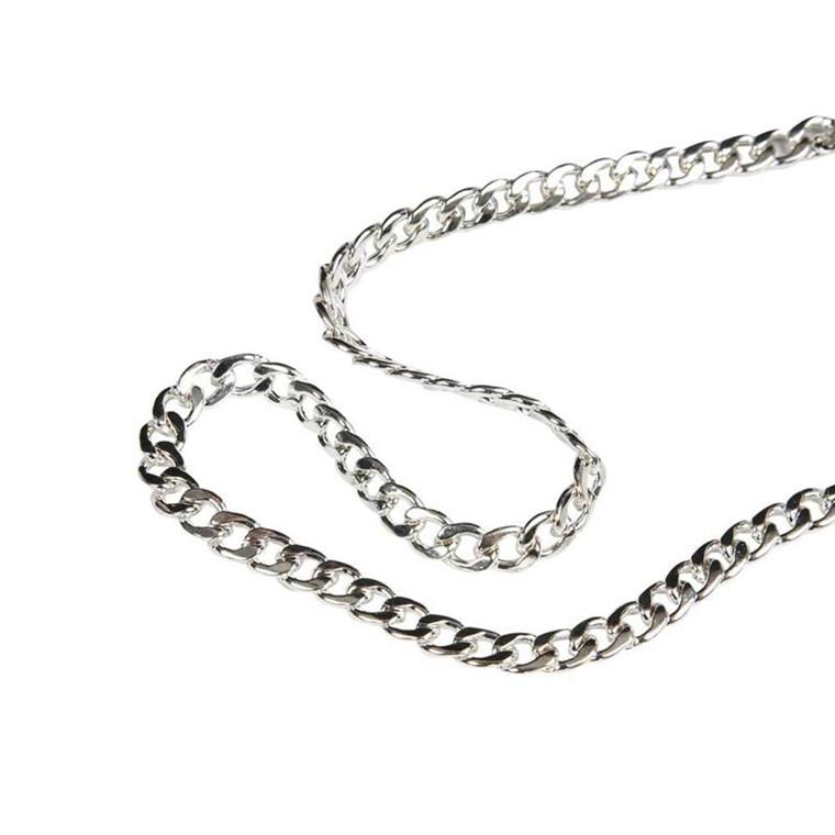 Kæde, 8 mm, forsølvet, FS, 3 m