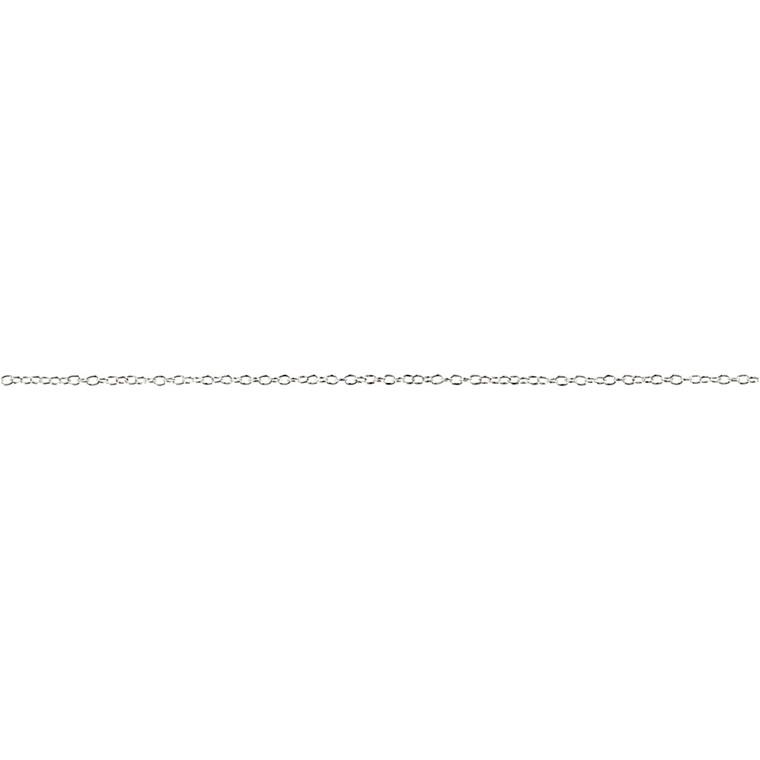 Kæde, B: 2 mm, forsølvet, FS, 2m