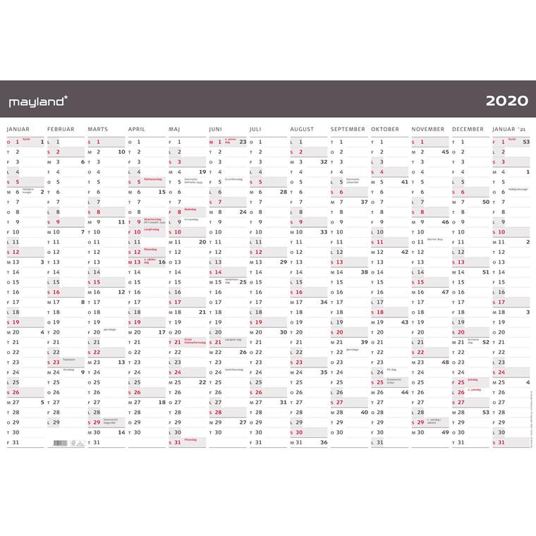 Kæmpekalender 1x13mdr Moderne 100x70cm 20 0643 00