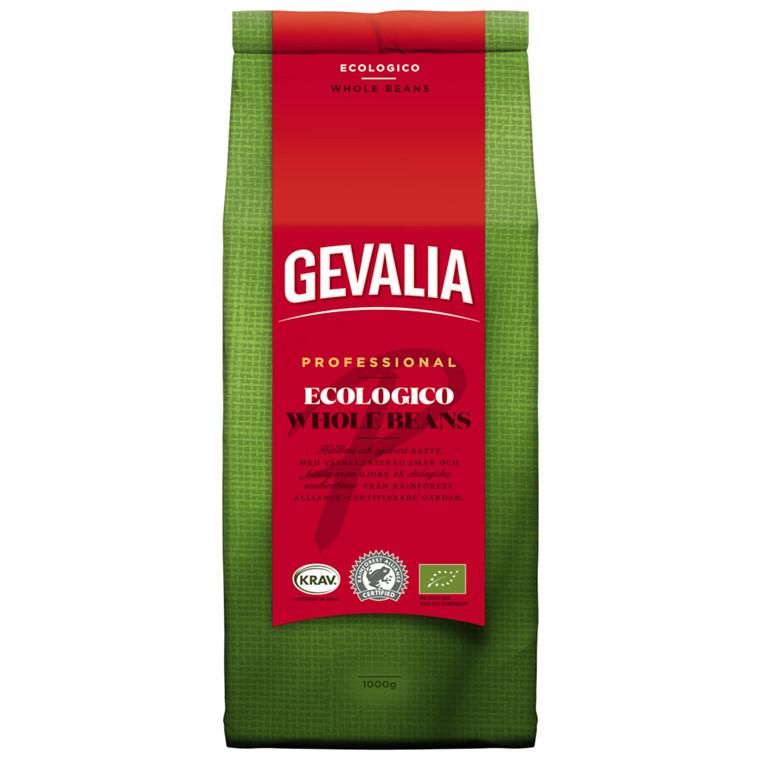 Kaffe, helbønner, Gevalia Professionel, økologisk, 1 kg,