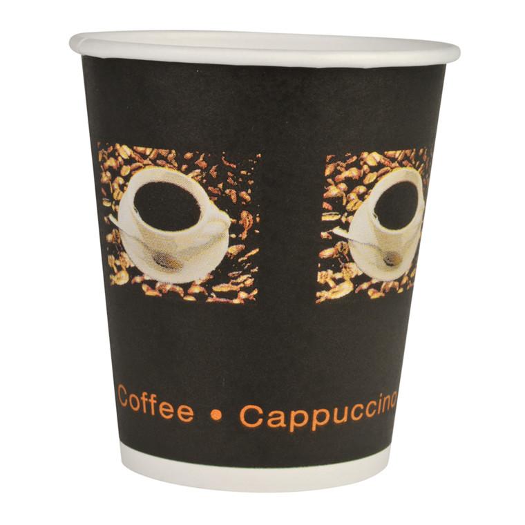 Kaffebæger, Abena Gastro-Line, Coffee Beans, 11cm, Ø9cm, 36 cl, sort, PE/pap, 12 oz