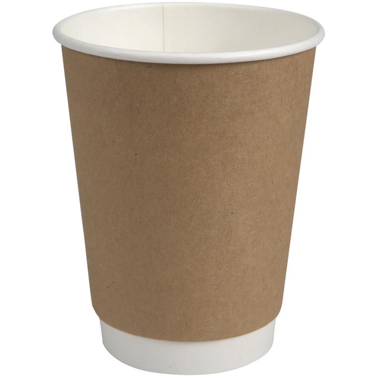 Kaffebæger, Abena Gastro-Line, Nexterday, 11cm, Ø9cm, 36 cl, brun, PE/pap, 12 oz
