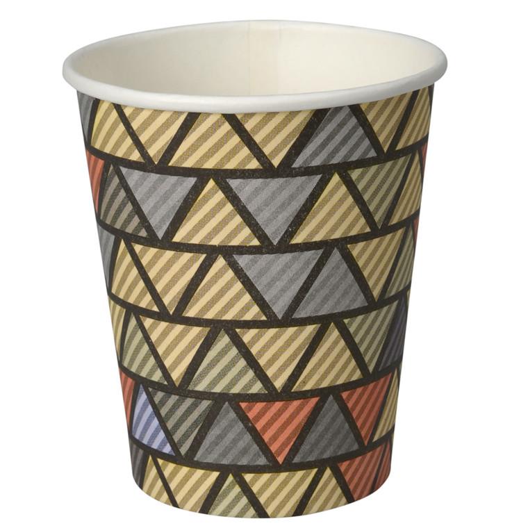 Kaffebæger, beige, 1 sidet PE coated, pap med PE-belægning, 24 cl, 8 oz,