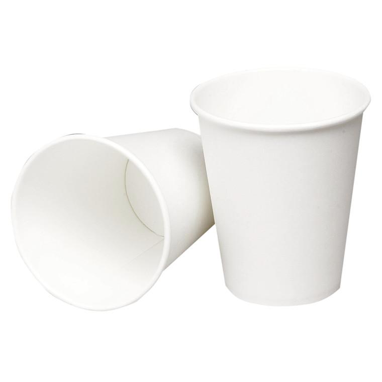 Kaffebæger hvid pap - 24 cl