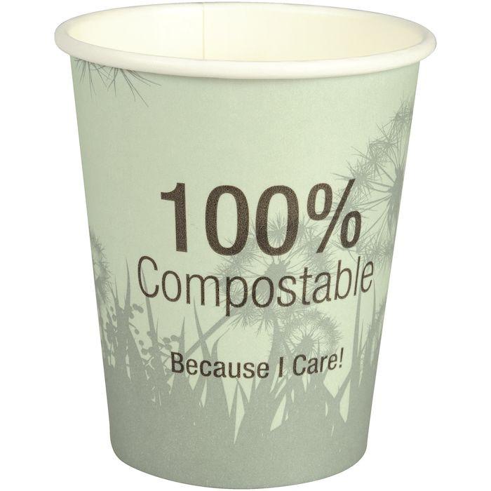 Kaffebæger, Gastro-Line, PLA-coated, Pap med PLA-belægning, 24 cl, 8 oz