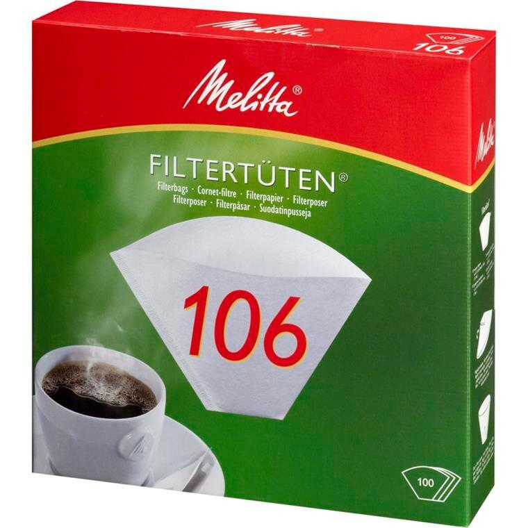 Kaffefilter, Melitta, hvid, 106, 100