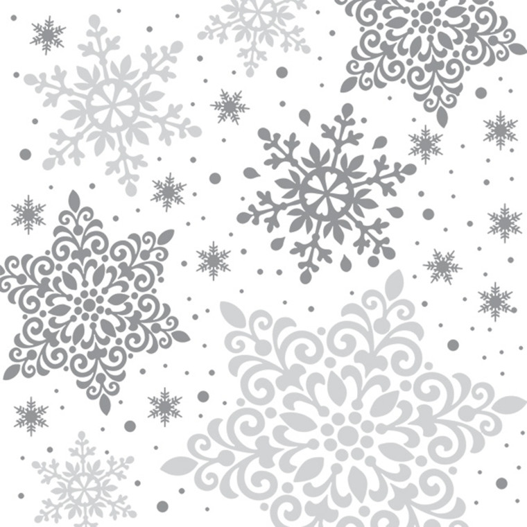 Kaffeserviet, Abena Gastro-Line, Winter Elegance, 3-lags, 1/4 fold, 25x25cm, flerfarvet, papir