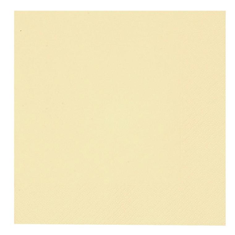 Kaffeserviet, Gastro-Line, 2-lags, 1/4 fold, champagne, papir, 24cm x 24cm