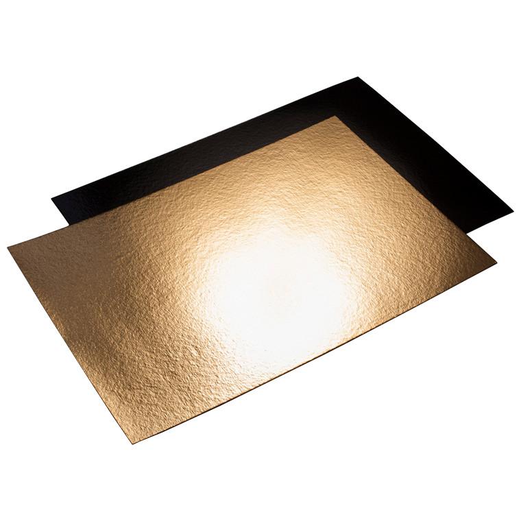 Kagepap guld/sort 40 x 58 cm kraftig - 25 stk