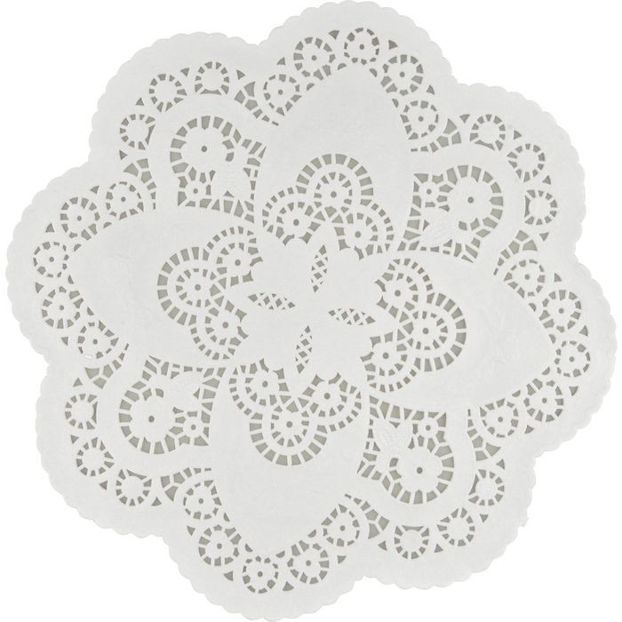 Kagepapir,  hvid, udhugget rund, papir, 31 cm,