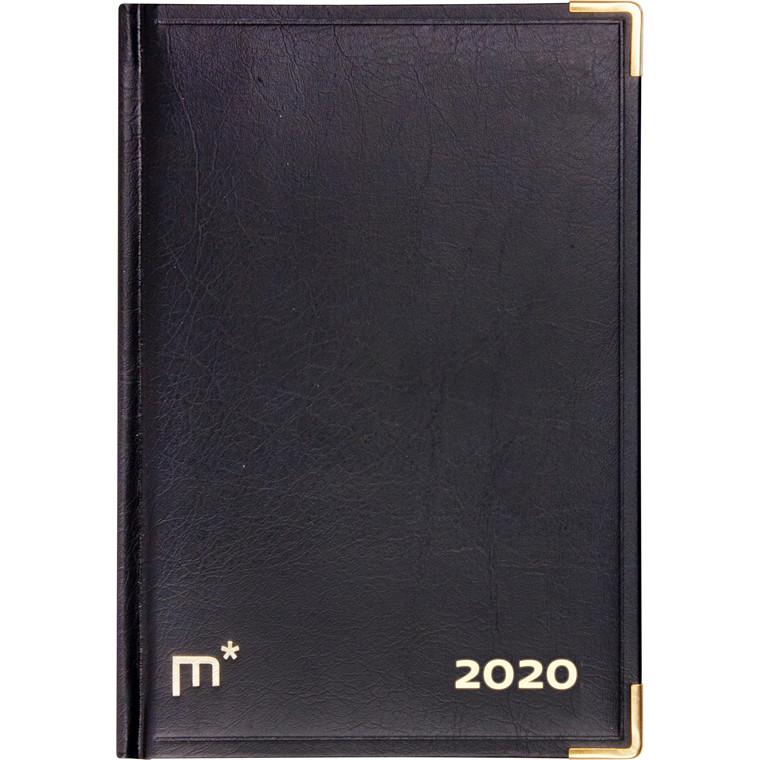 Kalenderårbog helbind sort 12x17cm 1 dag/side 20 1900 00