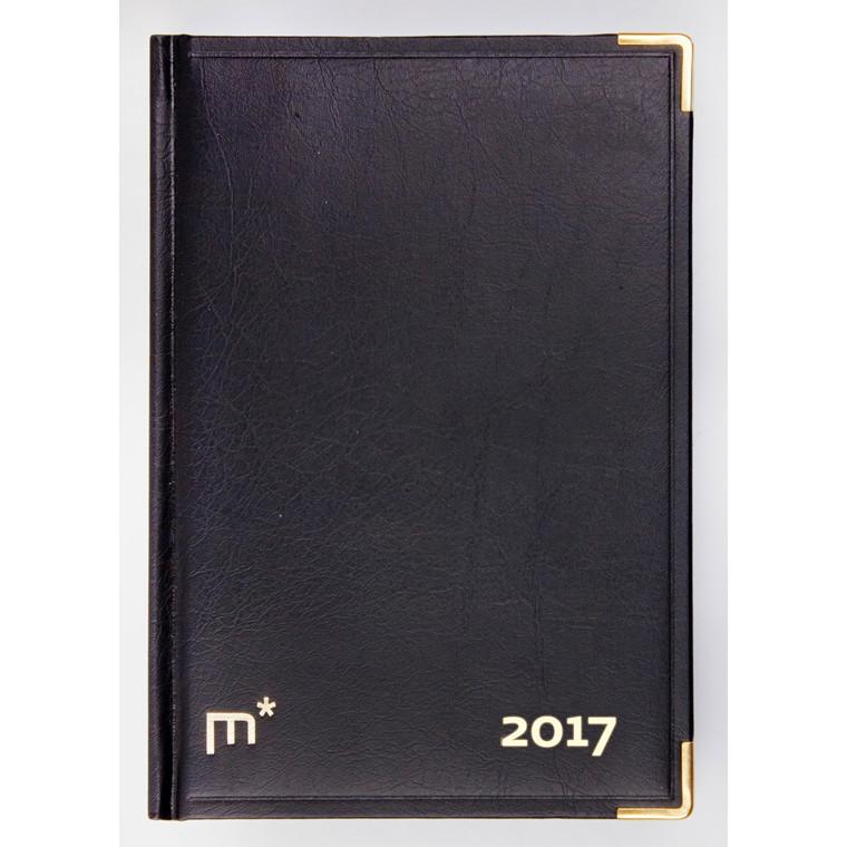 Kalenderårbog i helbind sort 12x17cm 1 dag/side 1900 00