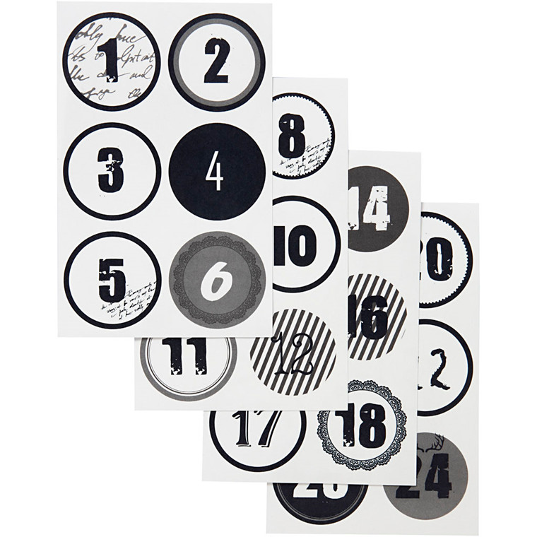 Vivi Gade Kalendertal Paris Ø: 4 cm, ark 9 x 14 cm - 4 ark