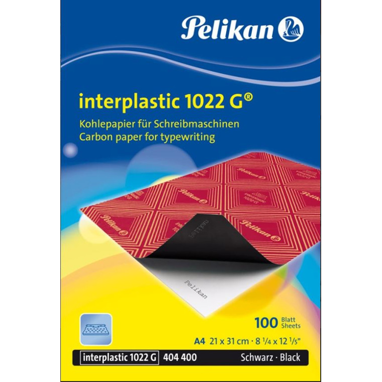 Karbonpapir - Kalkerpapir A4 sort Pelikan Interplastic 1022 G - 100 ark