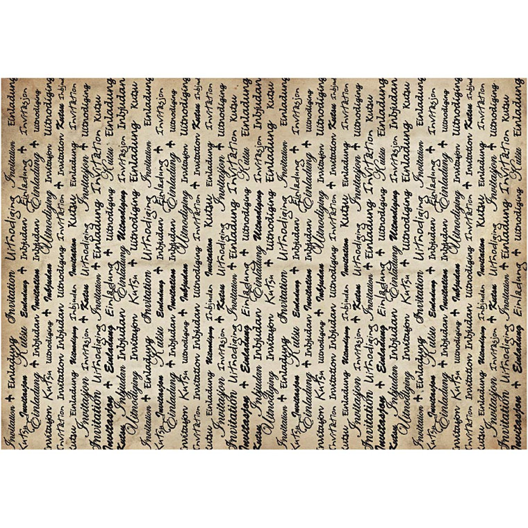 Karduspapir, A4 21x30 cm, 100 g, invitation, 10ark