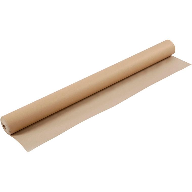 Tegnekardus rulle brun papir 130 gram - 96 cm x 30 meter