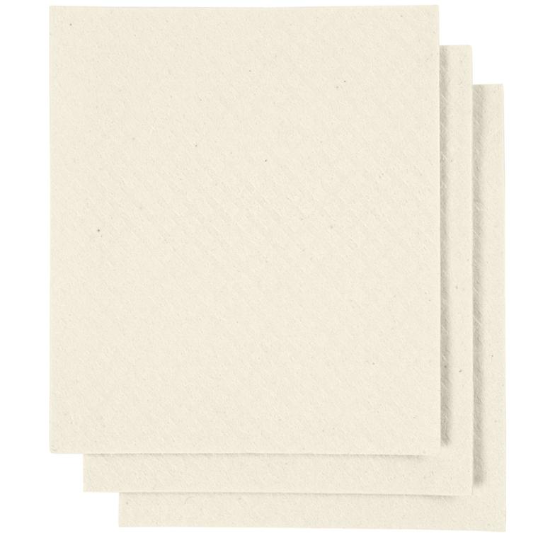 Karklud, str. 17x19,5 cm, råhvid, 3stk.