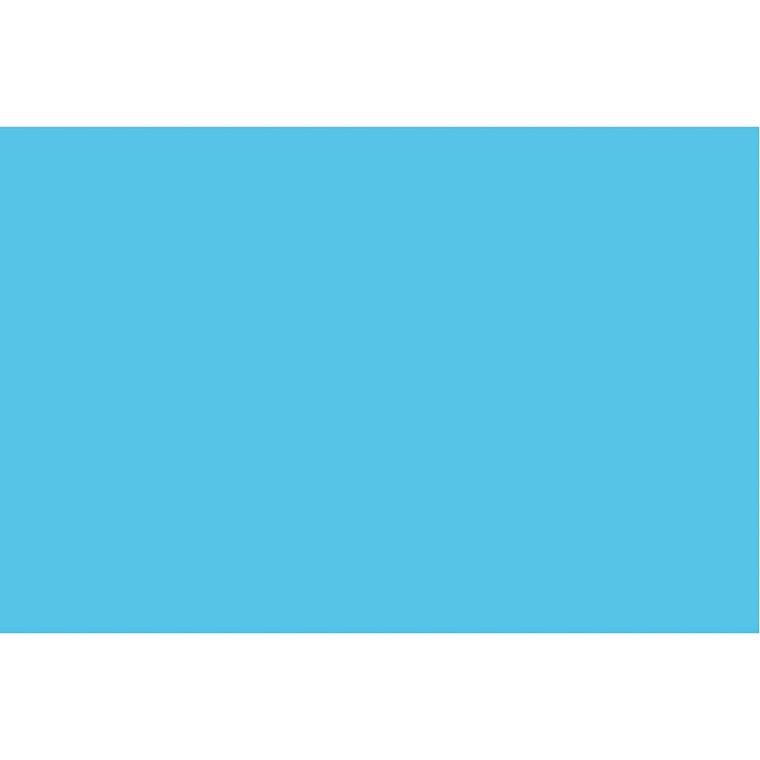 Karton, A2 420x600 mm, 180 g, klar blå, 100ark