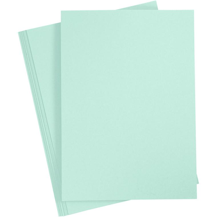Karton, A4 210x297 mm, 210 g, pastelgrøn, 10ark