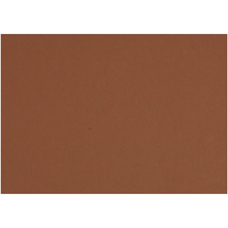 Karton, ark 497x697 mm, 270-300 g, kaffebrun, 10ark