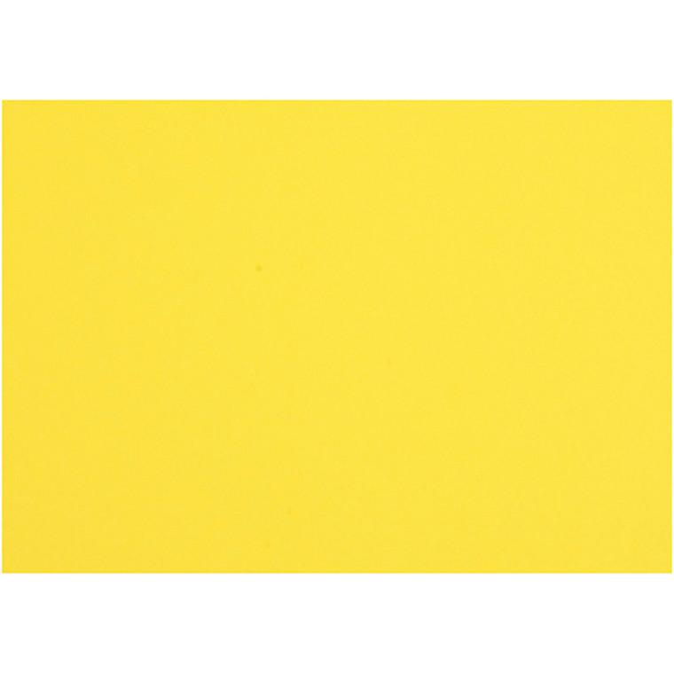 Karton, ark 497x697 mm, 270-300 g, solgul, 10ark