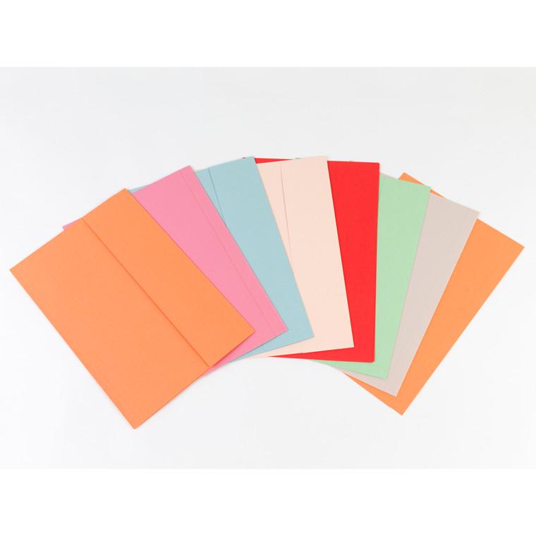 Kartonmappe m/1 klap folio 250g 370x250mm orange nr. 103