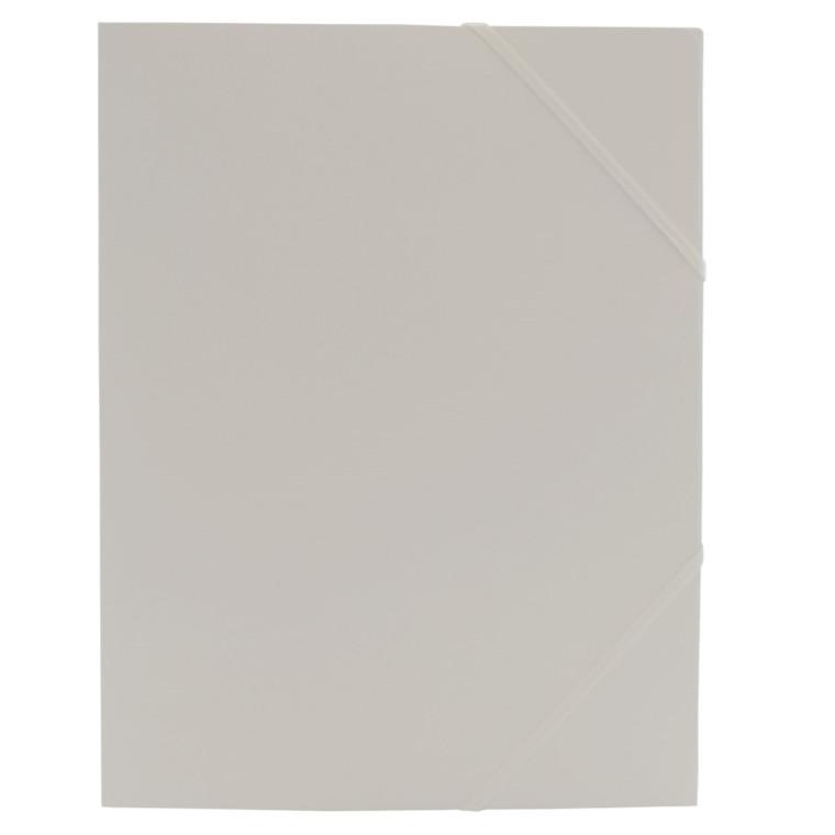 Kartonmapper A4 med 3 klapper og elastik B.N.T - Hvid
