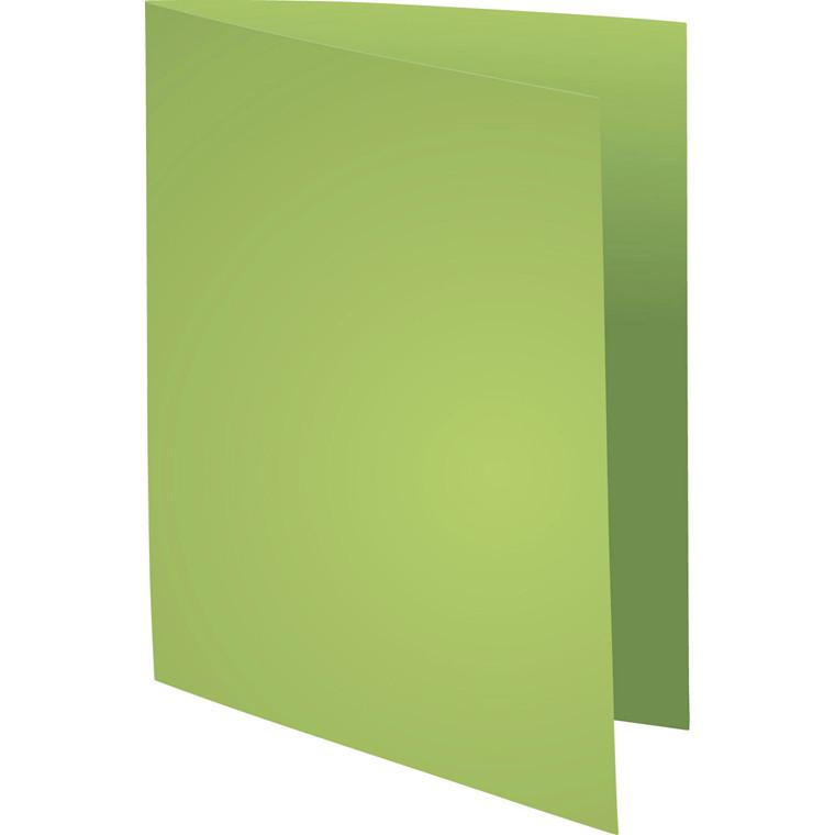 Kartonmapper uden klapper - A4 220 gram - Grøn