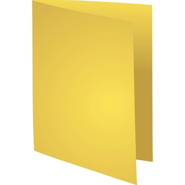 Kartonmapper uden klapper - A4 220 gram - gul