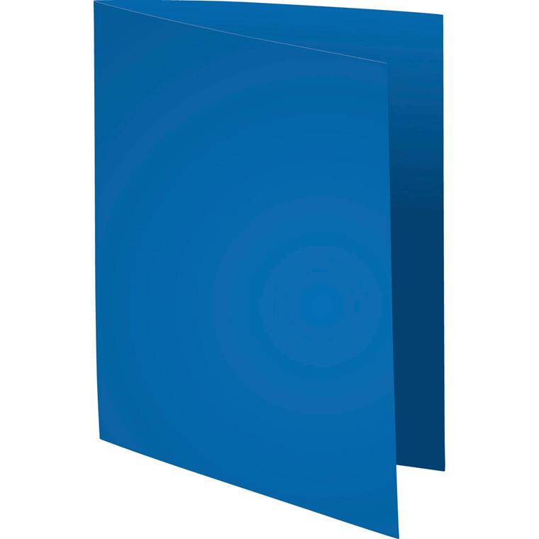 Kartonmapper uden klapper - A4 blå 220 gram