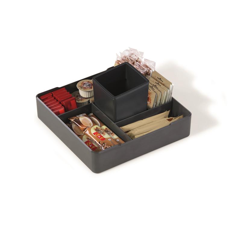 Kasse Coffee Point Case - mørkgrå og sort