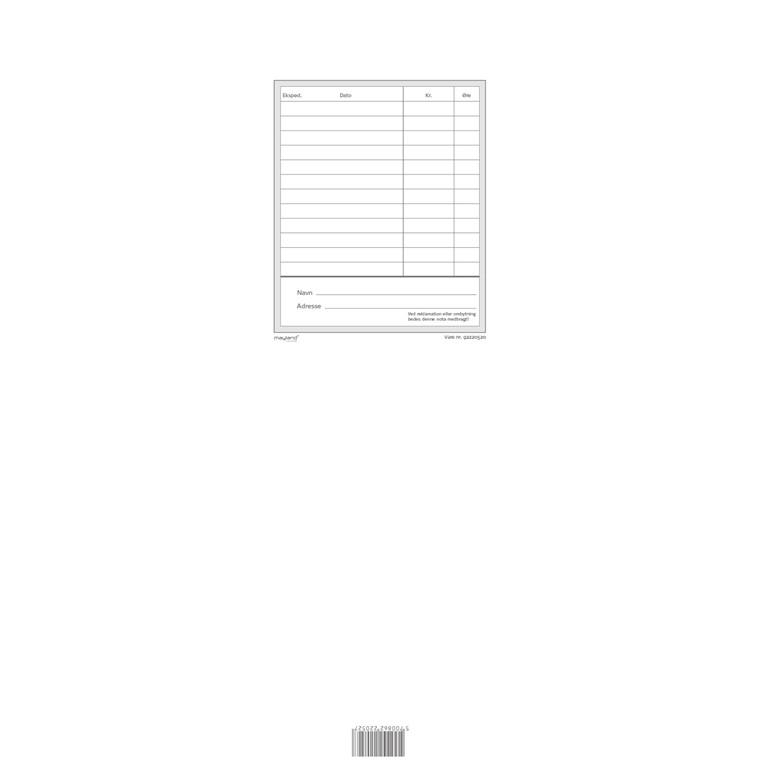 Kasseblok 100 x 178 mm 92220520 - 100 blade