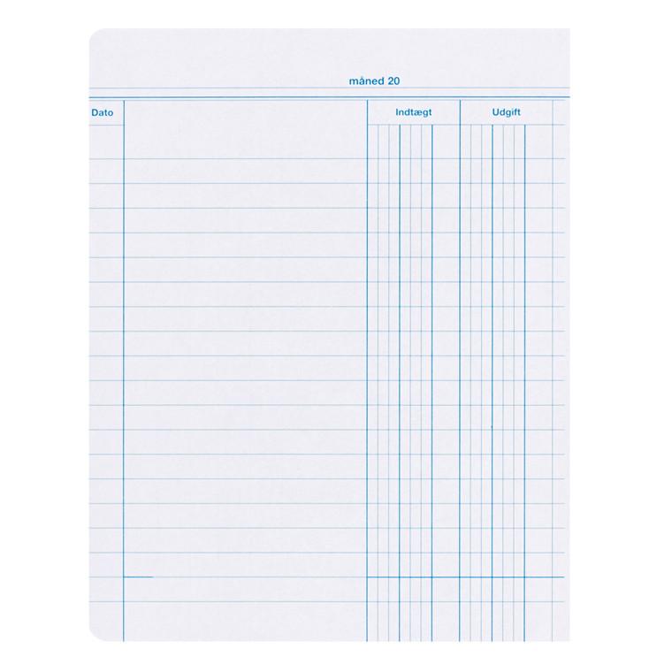 Esselte Kassebog 200 x 160 mm - 2 kolonner med indtægt / udgift - 40 ark