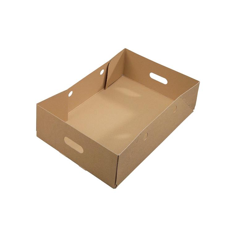 Kassebund karton brun/brun m/håndtagshuller 581 x 381 x 158mm - 30 stk.