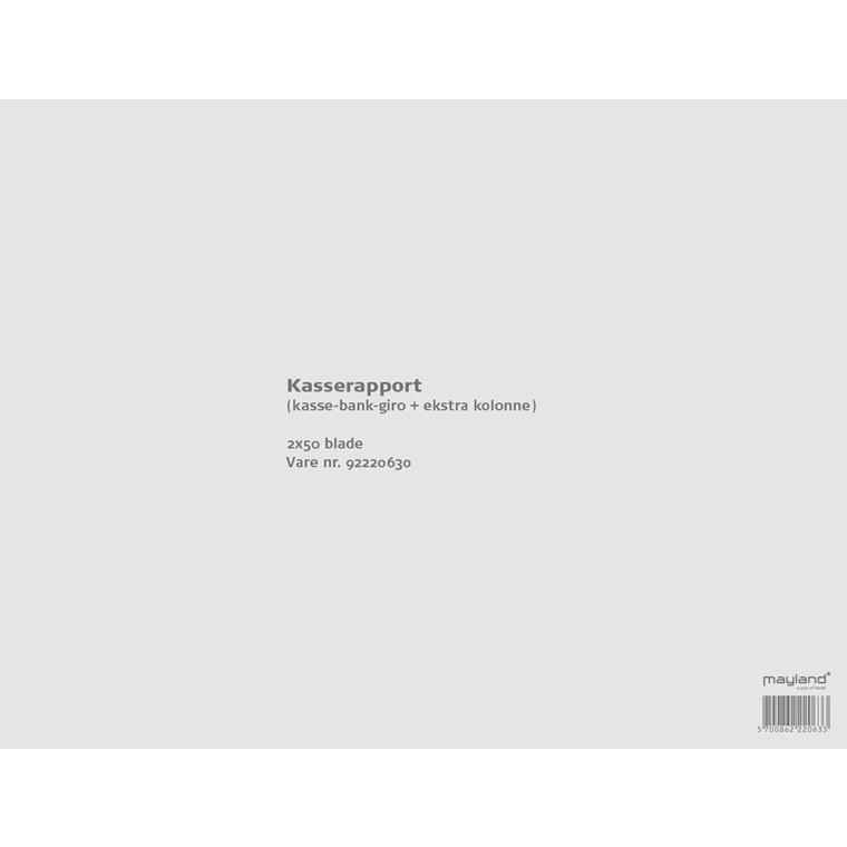 Kasserapport 228 x 297 mm 92220630 - 2 x 50 blade