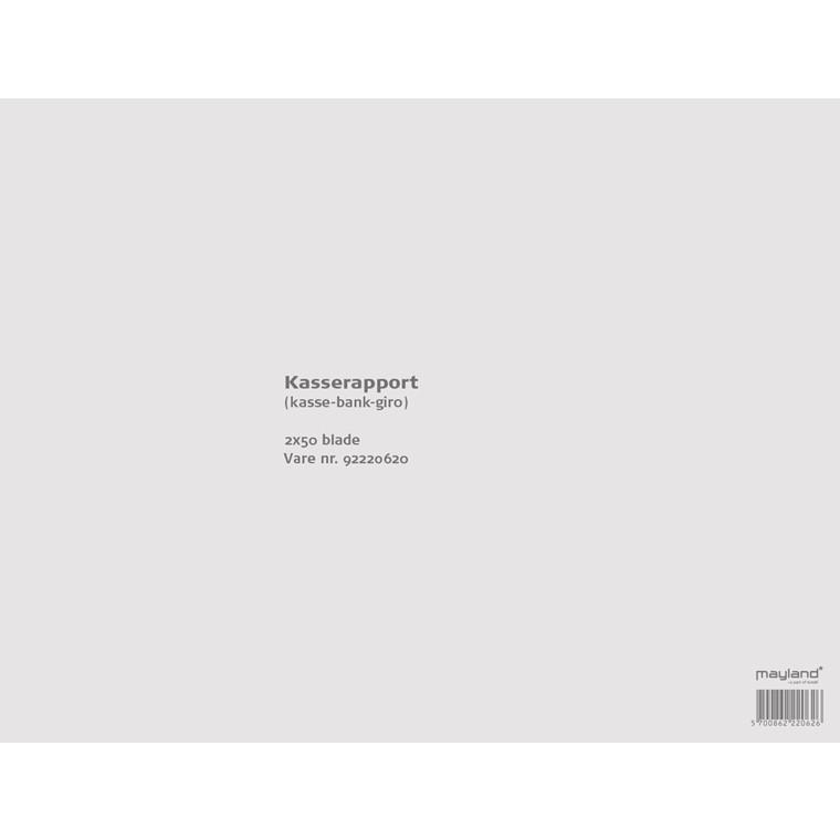 Kasserapport 2x50bl 228x297mm 92 2206 20