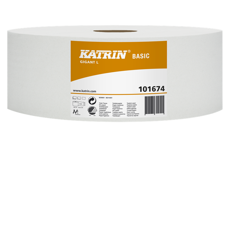 Katrin 101674 Basic Gigant L Toiletpapir 1 lags 585 meter - 6 ruller