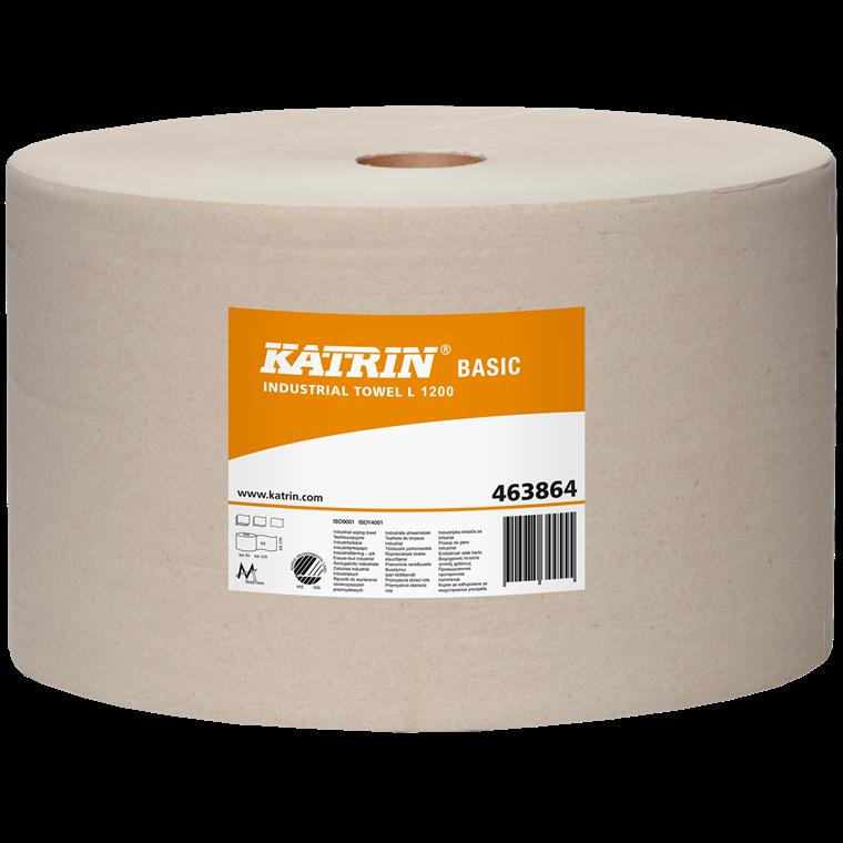 Katrin 463864 - L1200 Basic aftørringspapir til industri - 1230 meter