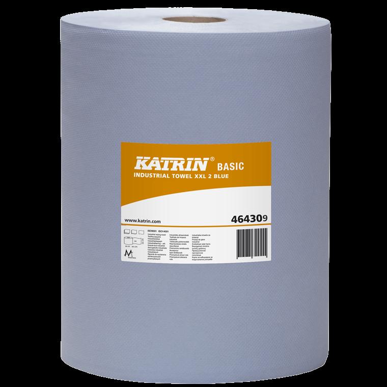 Katrin 464309 Basic Industrial Towel XXL2 Blå Aftørringspapir 38 cm x 360 meter - 2 ruller
