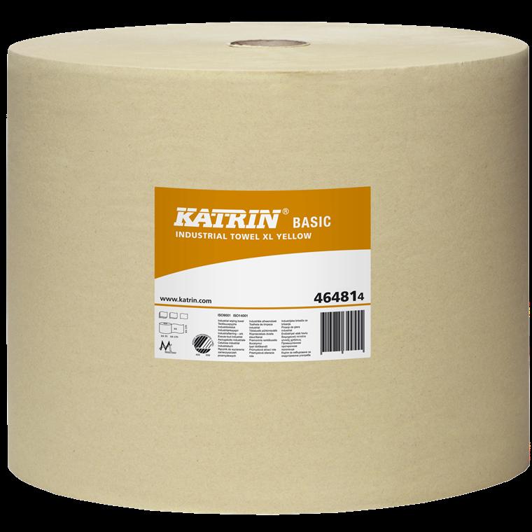 Katrin 464814 Basic XL Aftørringspapir gul 1 lag 32 cm - 1170 meter