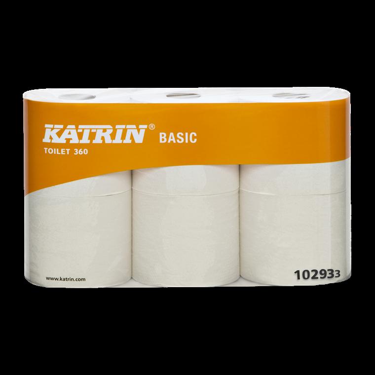 Katrin Basic 360 Toiletpapir ubleget  2 lag 360 ark 102930 - 42 toiletruller
