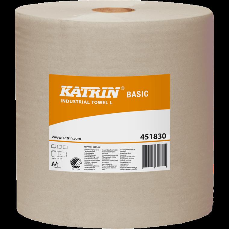 Katrin Basic L 451830 Aftørringspapir 1-lag 27 cm x 564 meter - 2 ruller